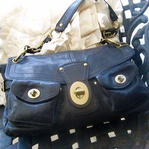 Vintage Legacy Leigh TurnLock Leather Shoulder Bag